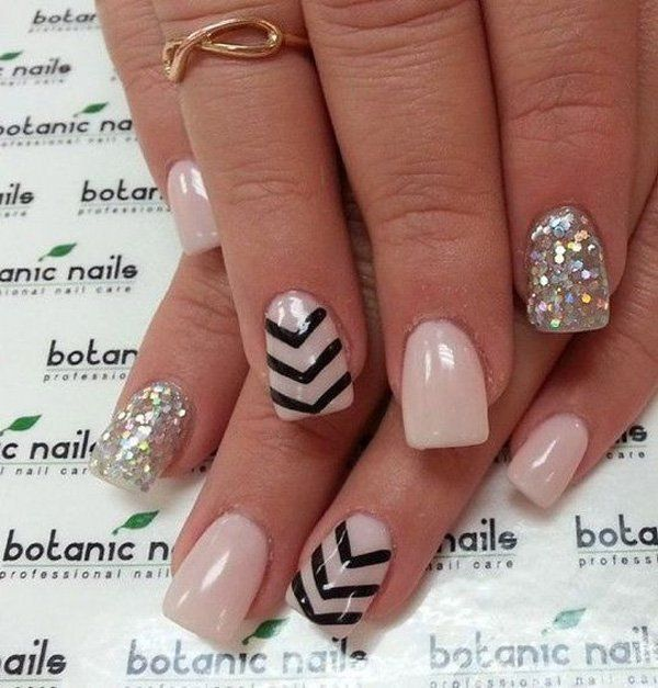 cool 45 Chevron Nail Art Ideas | Art and Design