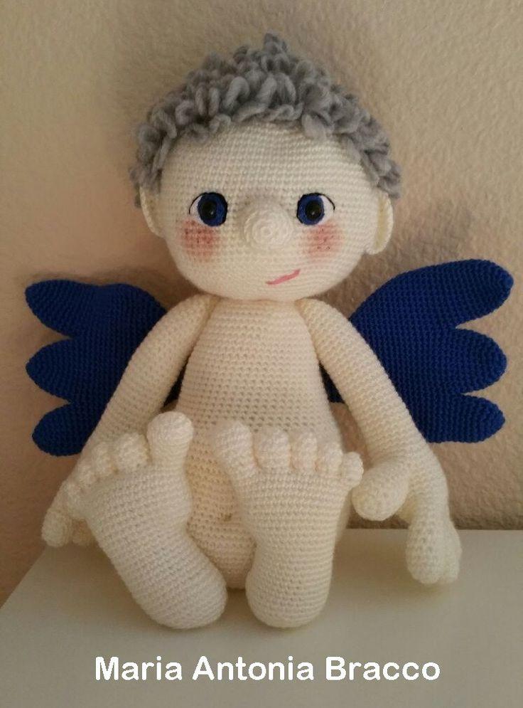Patrón de Angel amigurumi