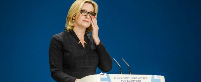 Home Secretary Amber Rudd addresses the audience on the third day of the Conservative party conference at the ICC in Birmingham. PRESS ASSOCIATION Photo. Picture date: Tuesday October 4, 2016. See PA TORY stories. Photo credit should read: Ben Birchall/PA Wire