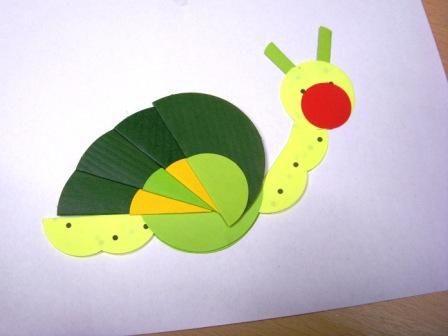 Origami z koła - ślimak