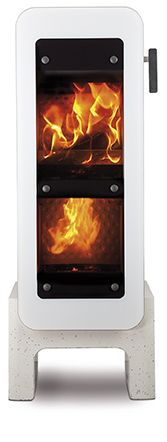 fireplace bionicfire, one of the most clean firetool on earth and great design with concrete and steel