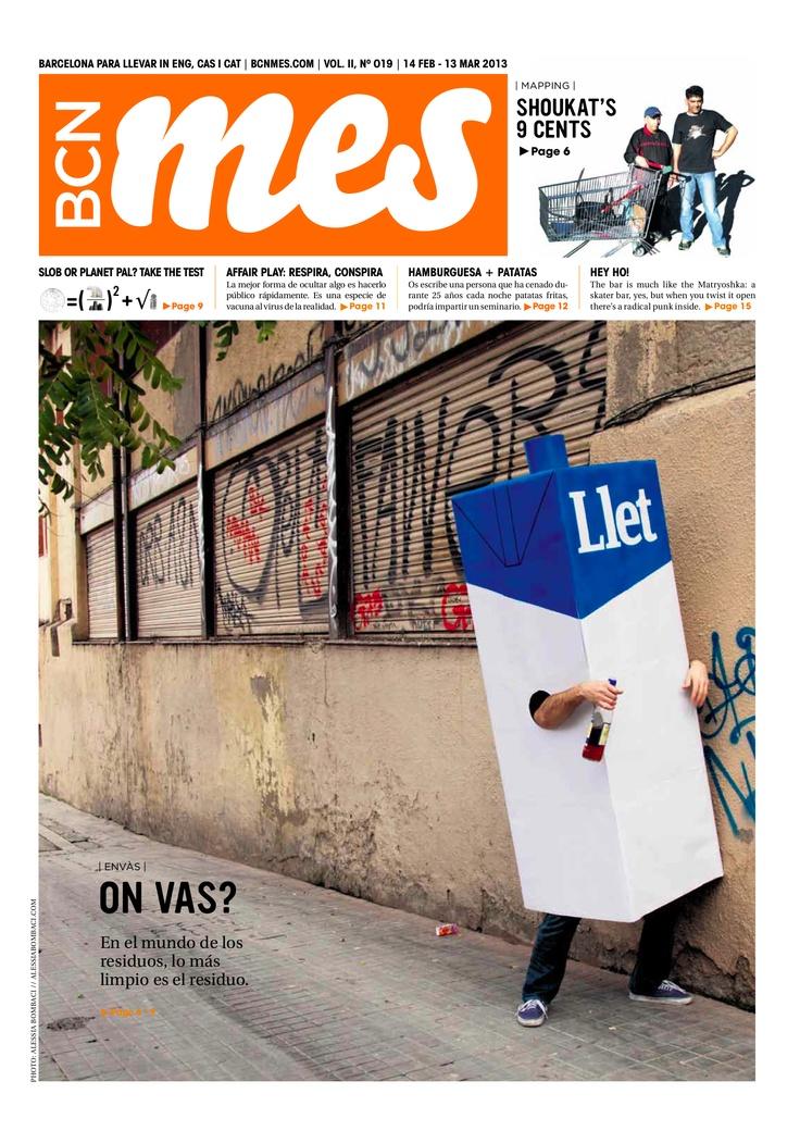 cover/portada de la edición de BCN Mes de febrero de 2013 (Barcelona's alternative cultural newspaper). Photo by Alessia Bombaci (www.alessiabombaci.com). Design help from Jennie Ball (www.jennieball.carbonmade.com)