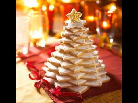 Albero di Natale fatto di biscotti, ricetta per Natale , Albero di Natal...