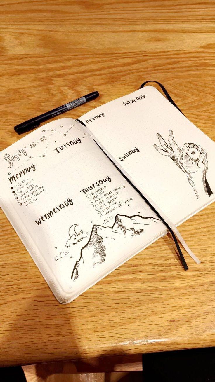 January astrology bullet journal