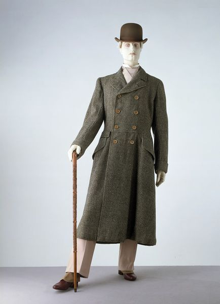 1906-1908, England - Driving coat by Hammond & Co. Ltd. - Woven houndstooth check tweed, lined with grey silk and woven wool