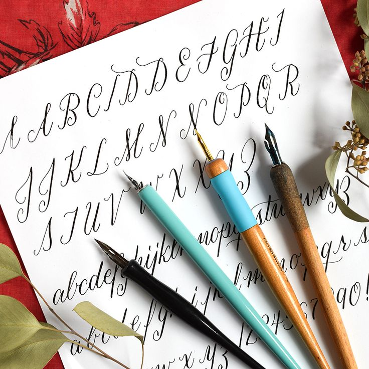 A Guide To Straight Calligraphy Pens Blog Handwriting
