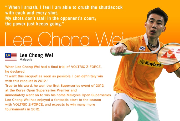 Lee Chong Wei's (MAS) perspective.