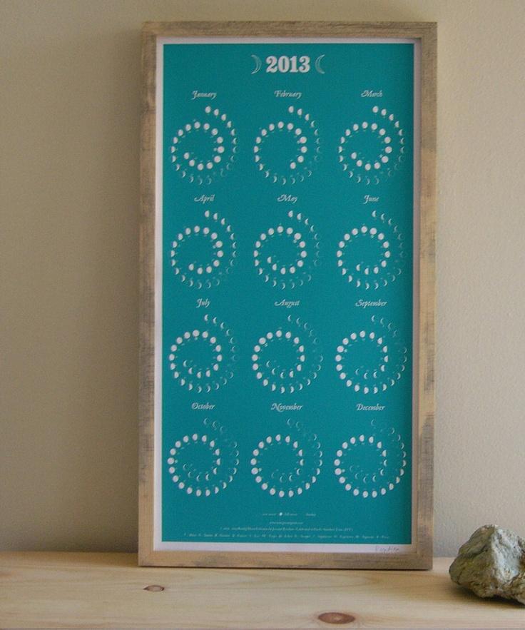 Jeremy Rendina 2013 Lunar Phase Calendar