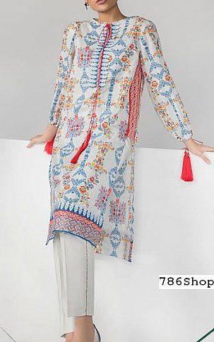 Off White Blue Lawn Suit 2 Pcs Buy Sapphire Pakistani Dresses