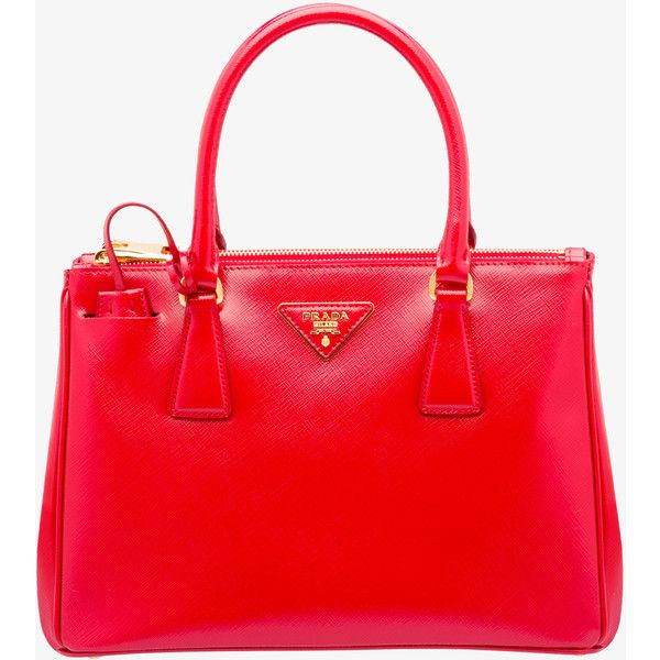 PRADA Tote (£1,605) ❤ liked on Polyvore featuring bags, handbags, tote bags, gifts, red, women, handbags totes, zipper tote, prada tote and tote handbags