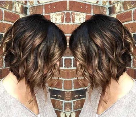 Ombre, Curly Bob Haircut - Beloved Brunette Bob Hairstyles for Ladies