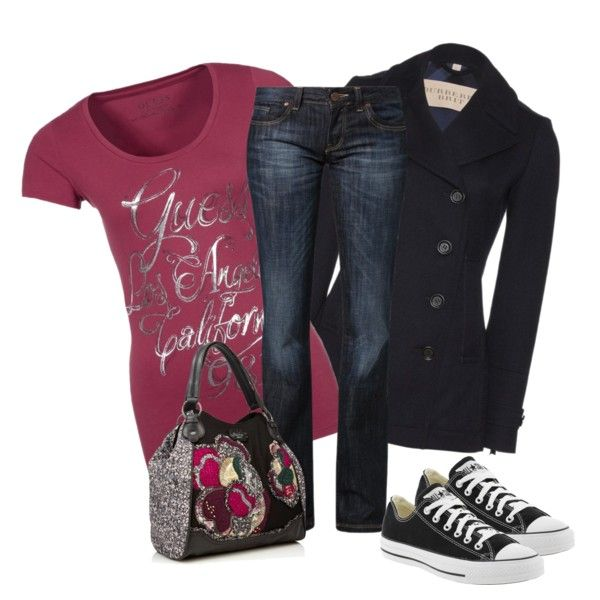 Jeans and tshirt by pollydickson on Polyvore