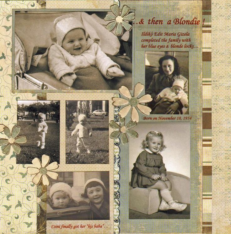 """Scrapbooking a Heritage Album: Part 6""...making feminine pages."