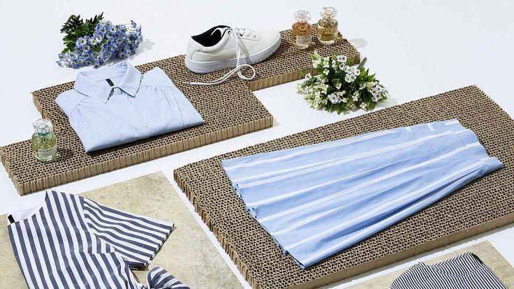 La camicie a righe bianche e blu svela il suo lato femminile. Scopri i look casual chic per la primavera estate 2017.