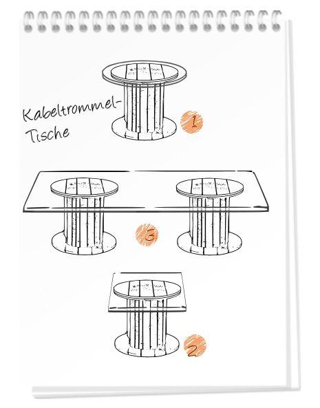 Wo du Kabeltrommel-Couchtische kaufen kannst, wie du einen Kabeltrommel-Tisch selber baust und wo es Kabeltrommeln gibt.