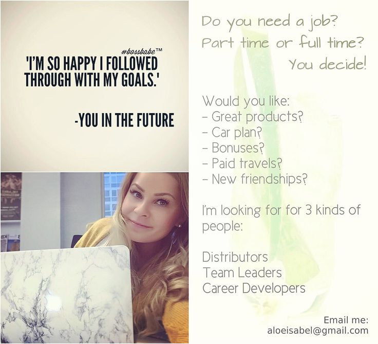Wanna work from home? Contact me: aloeisabel@gmail.com
