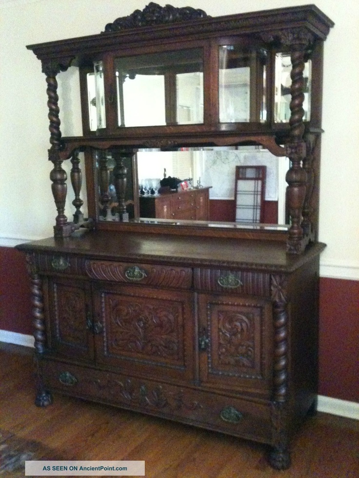 Antique Oak Sideboard Buffet My Style Pinterest