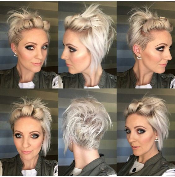Are you ready to party? 10 great short hairstyles with a festive shoot!