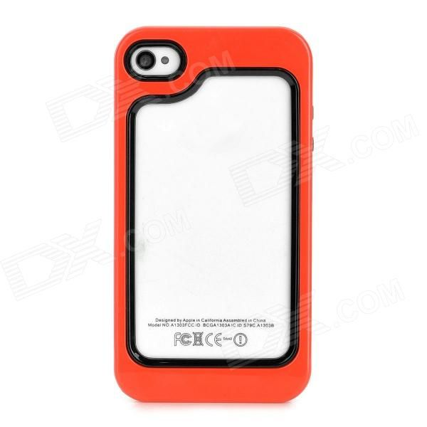 Brand: N/A; Quantity: 1 Piece; Color: Red + black; Material: Plastic + TPU; Type: Bumper Cases; Compatible Models: Iphone 4 / 4S; Other Features: Protects the frame of your device from abrasion; Packing List: 1 x Bumper; http://j.mp/VIIZMc