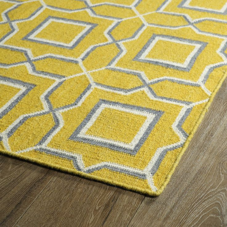 kaleen glam yellow geometric area rug