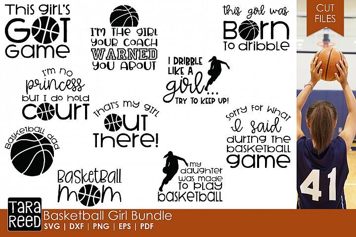 Basketball Mädchen Bundle   – Vinyl crafts
