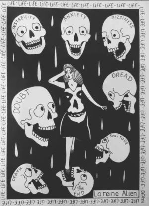 la reina alien ilustraciones para tatuajes
