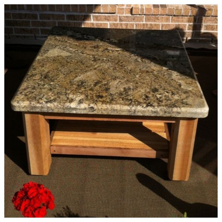 Superb Custom Outdoor Patio Table With Granite Top. Delivered To A Special Family  In Pearland,