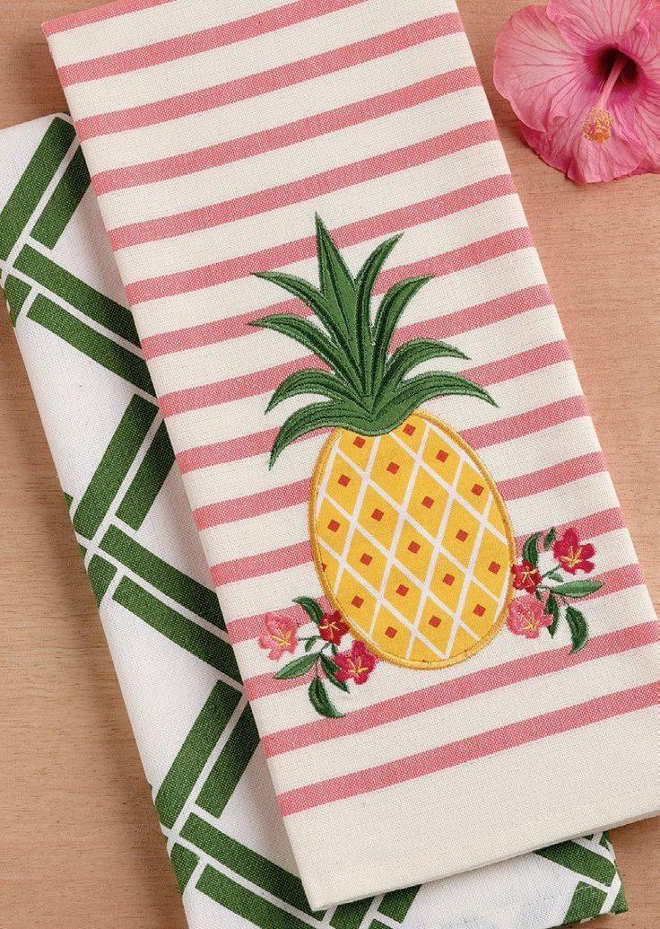 Pineapple Dishtowel Set of 2