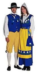 National clothes of Sweden, as you can see they also emblematize the national colors