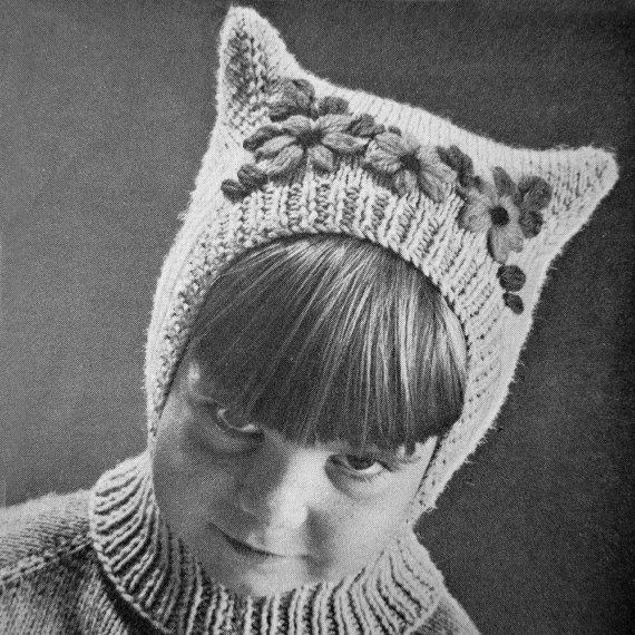 Balaclava Knitting Pattern Straight Needles : SPACE AGE Balaclava Kids Hats Scarf Toque Hood by Vintorium Puppet Costumes...