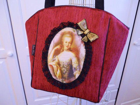 Sac Cabas MarieAntoinette Victorian  tote bag MADE IN par huguet, $85.00