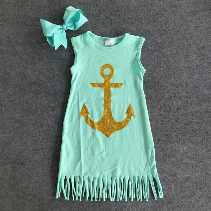 Mint Fringe Anchor Dress