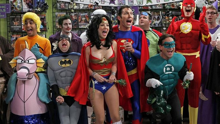 Still of Kaley Cuoco, Johnny Galecki, Simon Helberg, Jim Parsons and Kunal Nayyar in The Big Bang Theory Big Bang Theory, The Big Theory, Bridget Jones, Tbbt, Batman E Superman, Costume Original, Johnny Galecki, Hollywood Pictures, Jim Parsons