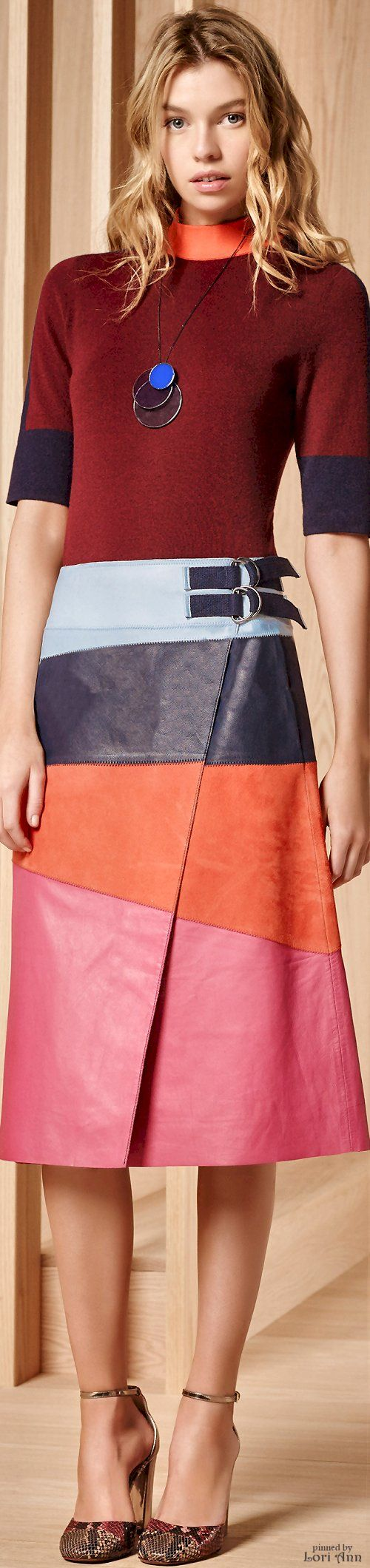 Tory Burch Pre-Fall 2016 women fashion outfit clothing style apparel @roressclothes closet ideas