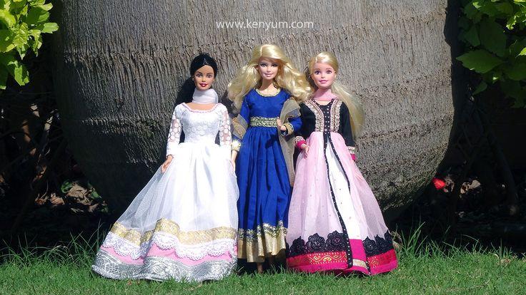 Anarkali dresses for Barbie dolls