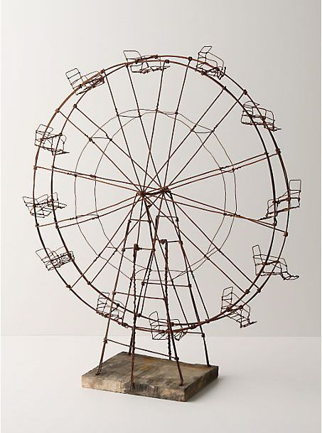 Weatherworn Ferris Wheel - the wire art of Katie Armour