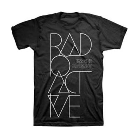 Imagine Dragons Radioactive Mens Tee - All Eyes will be on you when you wear this Imagine Dragons Radioactive Mens T-Shirt Size Medium. This product is a black t-shirt that pays homage to the band's single Radioactive from their debut EP Continued Silence and debut LP Night Visions. This shirt is 100% Cotton.