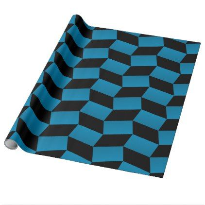 Cool 3D-Look Geometric Pattern Wrapping Paper - pattern sample design template diy cyo customize