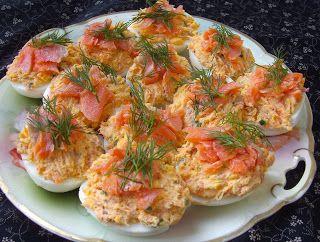 W Mojej Kuchni Lubię.. : jajka z łososiem...
