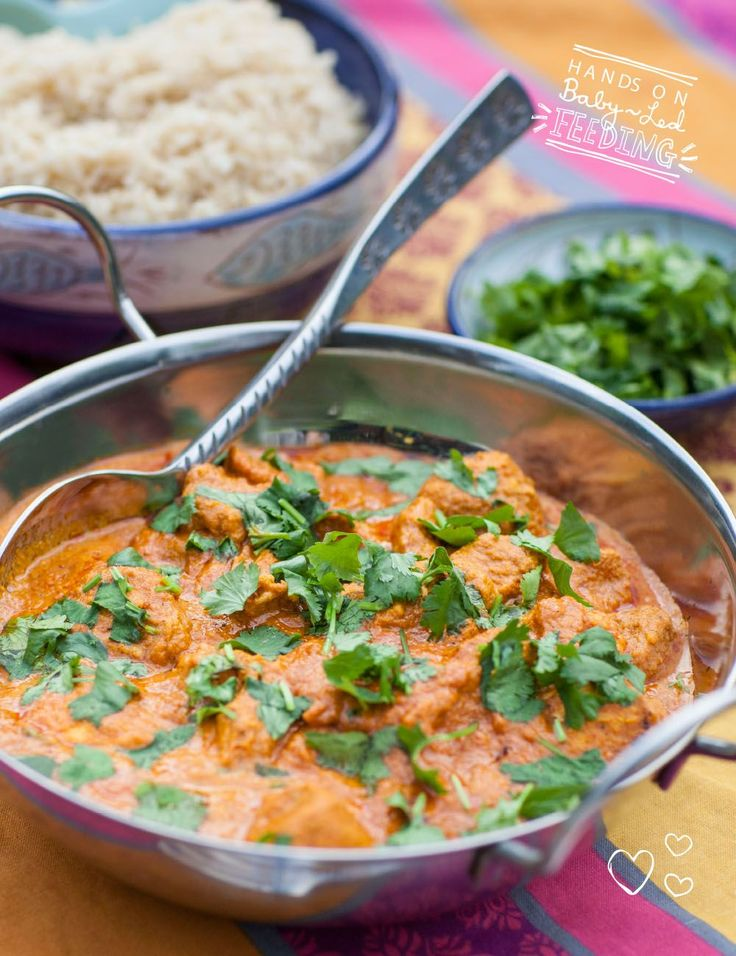 Healthy Chicken Tikka Masala is a delicious way to Introduce your baby to spices. Soft chicken with a yummy creamy sauce. Homemade Baby led weaning Recipes.