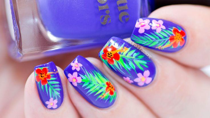 Tropical Summer Nail Art | Video Tutorial