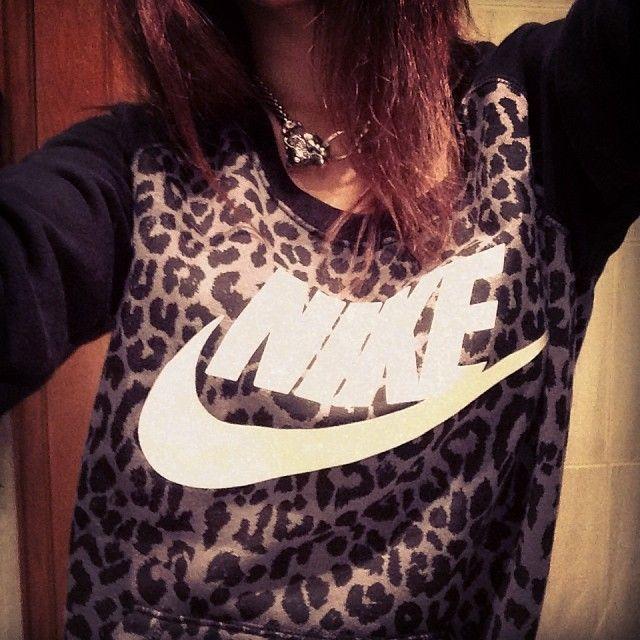 Nike leopard print shirt.