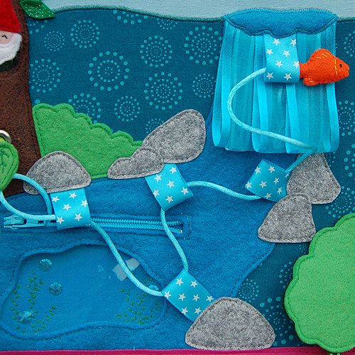 Fairybook  1 Quiet book page Waterfall PATTERN & TUTORIAL