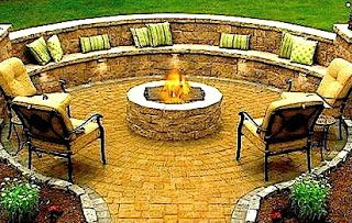 The circular seating with backrest is the ultimate!  Hey honey, I want this!