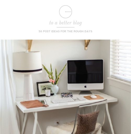 50 Post Ideas For The Rough Days | #bloggingDecor, Ideas, Office Spaces, Offices Spaces, Small Offices, Work Spaces, Workspaces, Desks Spaces, Home Offices