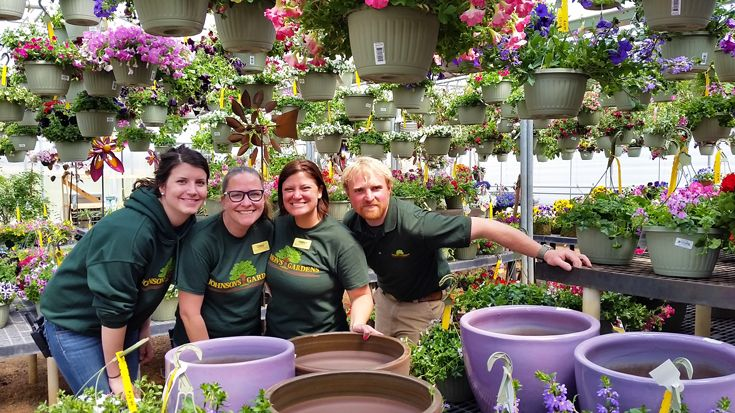 Some of our team for the 2015 hanging basket sale.
