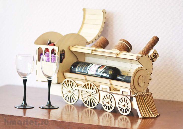 поезд из фанеры