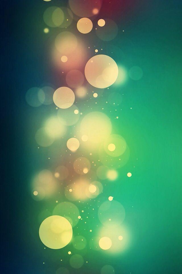 Green Bokeh Circles iPhone Wallpaper #iPhone #wallpaper