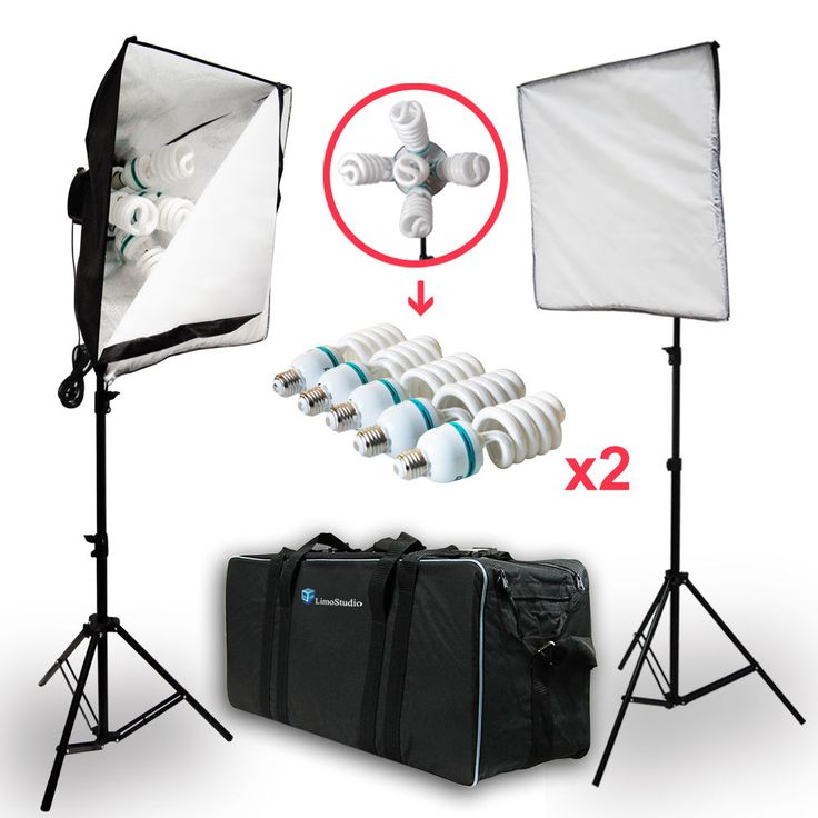 2000W Photo Studio Video Photography Softbox Light Stand Continuous Lighting Kit #LusanaStudio