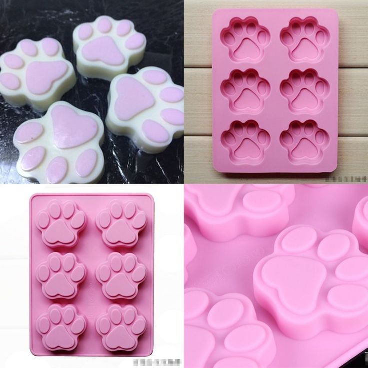 "7.29"" Dog Cat Paw Print Silicone Bakeware Mold Mould Chocolate Cookie Candy #Unbranded #Modern"